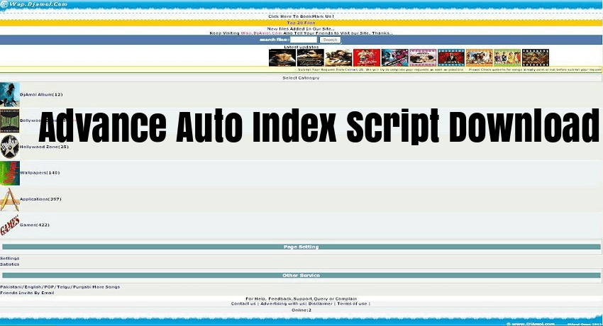 Photo of Advance Auto Index Php Script Free Download