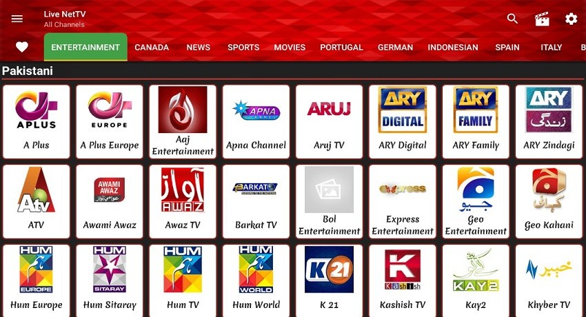 Photo of Live NetTV Android App