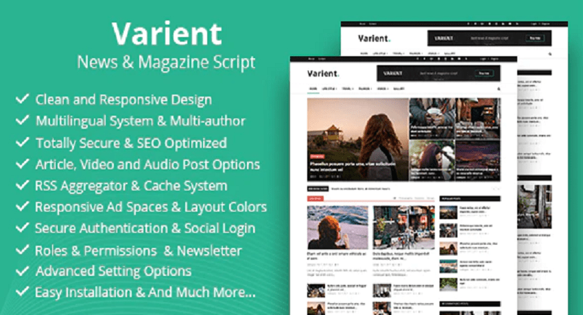 Photo of Varient v1.7 – News & Magazine Script – nulled PHP Script